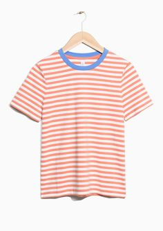 & Other Stories image 1 of Striped Top in Pink