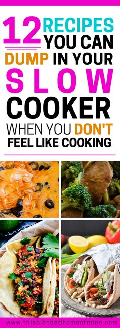 12 Easy Slow Cooker Recipes for Busy Weeknight Family Dinners - Slow Cooker Recipes, Crockpot Recipes, Cooking Recipes, Best Dinner Recipes, Whole 30 Recipes, 12 Recipe, Healthy Snacks, Healthy Recipes, Clean Eating For Beginners