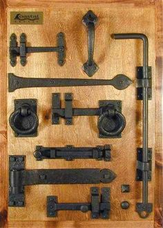 There are basically two types of barn door hardware. The first is a rustic, flat track sliding door system The second is a more modern roller and track style Shutter Hardware, Gate Hardware, Rustic Hardware, Window Hardware, Interior Sliding Barn Doors, Sliding Barn Door Hardware, Sliding Door, Rustic Doors, Wooden Doors