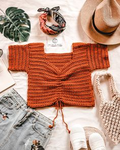 - Crochet for beginners - Crochet Summer Tops, Crochet Crop Top, Crochet Blouse, Crochet Bikini, Knit Crochet, Easy Crochet, Filet Crochet, Crochet Clothes, Diy Clothes