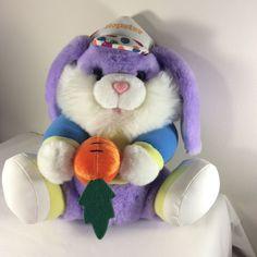 "Dan Dee Plush EASTER BUNNY Purple Blue Yellow Hat Hopster 11"" Stuffed Animal #DanDee"