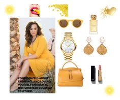 """yellow"" by amraavdic ❤ liked on Polyvore featuring Jil Sander, CÉLINE, Movado, Chanel and Tory Burch"