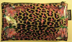 Amika High Gloss Plastic Cosmetic Bag with Fabric Lining. #Amika