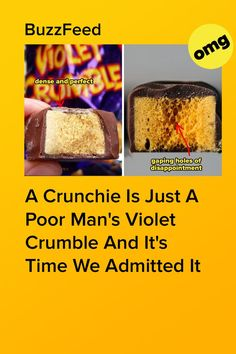 Why do all Crunchies have one side that's bubbly-soft and one side that's guaranteed to crack a tooth? Violet Crumble, Aussie Food, Bubbles, Tooth, Teeth