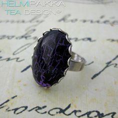 Violetti-musta pitsireunasormus 11€ #tilaustyö #customorder #customwork