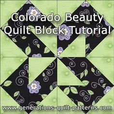 Learn to make a Colorado Beauty quilt block using either Connector Corners or paper piecing. Instructions in 3 sizes. Free pattern downloads.