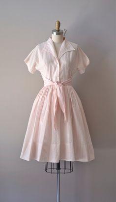 vintage 1950s dress / cotton 50s dress / Badinerie dress