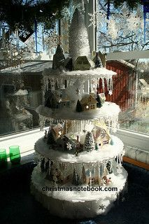 Putz houses display | by christmasnotebook