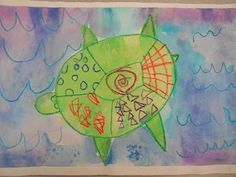 Under the Sea: Sea Turtles Art Project Kindergarten and Kate Spade