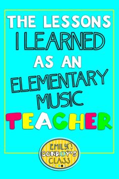 This blog post has some really motivating and inspiring advice for any elementary music teacher needing a little encouragement!