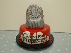 My finished Game of Thrones cake August 2014 by Claire Scrumptious of Scrumptious Cakes Minehead :-)