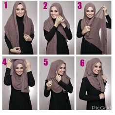 Questions are welcome - Salvabrani Square Hijab Tutorial, Pashmina Hijab Tutorial, Hijab Style Tutorial, Easy Hijab Tutorial, Hajib Fashion, Muslim Fashion, Stylish Hijab, Casual Hijab Outfit, How To Wear Hijab