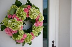 Image detail for -front door wreaths in green hydrangea with pink carnations Peonies And Hydrangeas, Pink Carnations, Green Hydrangea, Hydrangea Wreath, Pink Peonies, Floral Wreath, Wreaths For Front Door, Door Wreaths, Front Doors