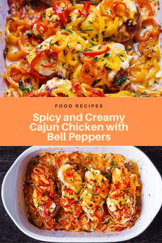 Spicy and Creamy Cajun Chicken with Bell Peppers Stuffed Bell Peppers Chicken, Stuffed Peppers With Rice, Recipes With Chicken And Peppers, Chicken Recipes, Baked Chicken, The Cheesecake Factory, Paprika Hummus, Feta, Chicken