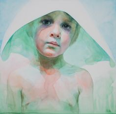 Waiting for the return, watercolor #alicavanaugh #angel #watercolor #painting
