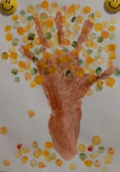 autumn hand finger print