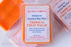 Tropical Fruit Salad Wax Melt - Wax Tart - Highly Scented Wax Melts - Para Soy Wax Melt - Home Fragrance - Clamshell Wax Cubes by XplosiveCosmetiX on Etsy https://www.etsy.com/listing/281102082/tropical-fruit-salad-wax-melt-wax-tart