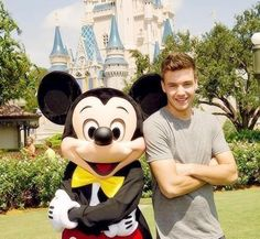 Liam with Mickey mouse