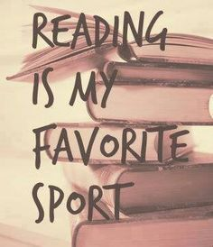 Reading is obviously a sport! #bookclub