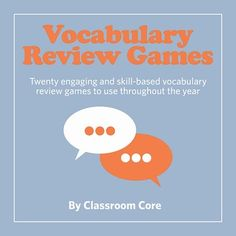 Vocabulary Review Games! Grades 5-10, aligned to CCSS. Are you looking for fresh ideas to review vocabulary and develop critical literacy skills? Your students will love using this collection of twenty CCSS aligned games and activities to aid with retention and correct usage of new vocabulary words. This collection includes step-by-step instructions complete with printable student handouts and many examples. Use as warmups, work for early finishers, or in centers! Vocabulary Instruction, Academic Vocabulary, Teaching Vocabulary, Vocabulary Activities, Literacy Skills, Teaching Reading, Teaching Tools, Esl, 6th Grade Ela