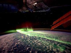 These spectacular shots are the latest happy snaps taken from the International Space Station – this time with an astronaut's own personal camera. This picture was taken over the Southern Lights between Antarctic and Australia.