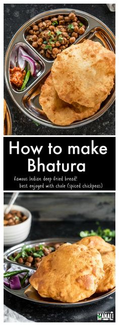 Learn how to make bhatura - the famous Indian puffed deep fried bread at home with these easy step by step instructions!