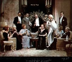 "Cast of ""Dinner at Eight"" on a Coca-Cola ad (photo by Nickolas Muray)"