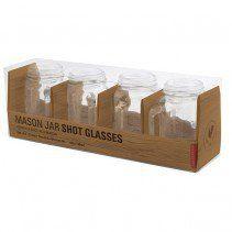 Mason Jar Shot Glasses (with handles) | Set of 4