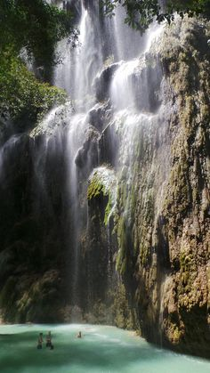 Tumalog Falls, Oslob, Cebu in the Philippines