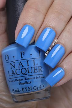 opi Fearlessly Alice is a stunning bright blue cream.