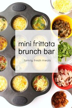 my Mini Frittata Brunch Bar is a cinch to make! Just whisk up some eggs, then offer a choice of add-ins for everyone. Fun breakfast, brunch or light dinner!
