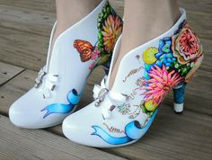 custom painted heels | For my love of shoes: Hand painted shoes