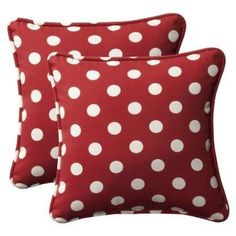 love these polka dot pillows (outdoor canvas)