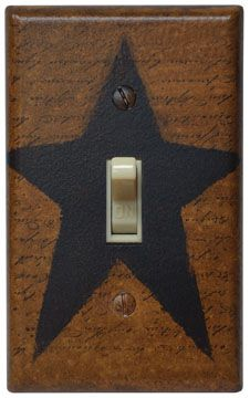Primitive Country Handpainted Switchplate Cover ~ Star available on our website www.finecountrylivingprimitives.com