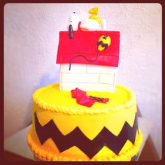 Snoopy Cake by Beth Sanchez.  The BEST in Oklahoma!!