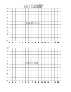 Printable Battleship Game And Other Printables Would Also Be