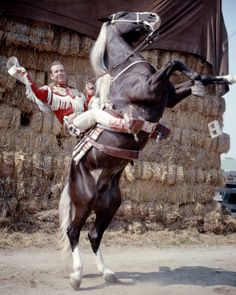 """Rex Allen and """"Koko"""".One of the most beautiful horses in the movies!!!Rex was just great,too!!!!"""
