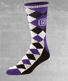 Custom Argyle  4-color argyle patterned sock with optional logo.