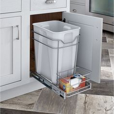 Shop for ClosetMaid Premium Cabinet Pull-out Trash Bin. Get free delivery On EVERYTHING* Overstock - Your Online Home Improvement Destination! Kitchen Organization Pantry, Small Kitchen Storage, Kitchen Redo, Home Organization, Kitchen Design, Kitchen Ideas, Kitchen Layout, Organizing Small Kitchens, Kitchen Storage & Organization