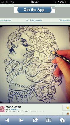 Pin Up Gypsy Tattoo
