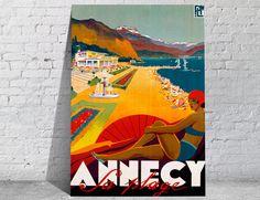 Des affiches vintage pour prolonger l'été sur la plage