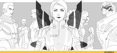 Mass Effect,фэндомы,ME art,Femshep,Wrex,Garrus,Ashley,Kaidan,Liara,Tali,wei723