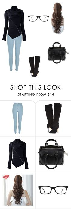 """""""Estefania💋"""" by estefaniajenner ❤ liked on Polyvore featuring River Island, GUESS, Givenchy, Pin Show, Ray-Ban, Winter and black"""