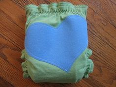 Recycled t-shirt diaper--for the day when I feel REALLY comfortable with my sewing skills :-)