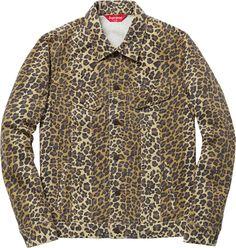 supreme leopard denim jacket