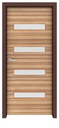 Zebrawood Aspen Glass Interior Door