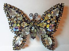 WEISS Vintage 1950's Butterfly Brooch by THDAntiquesVintageCo