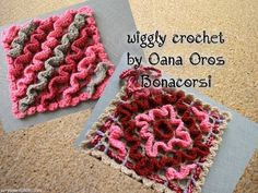 my english crochet channel https://www.youtube.com/user/oanaoroscrochet http://onelinib23.blogspot.it/2014/07/wiggly-crochet-oppure-tecnica.html