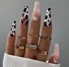 Cute Nails For Fall, Nails For Autumn, Cow Nails, Luxury Nails, Fire Nails, Fall Nail Designs, Best Acrylic Nails, Stylish Nails, Perfect Nails