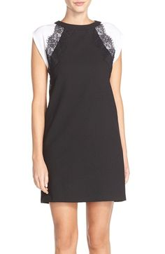 KUT from the Kloth Raglan Sleeve Crepe Shift Dress available at #Nordstrom